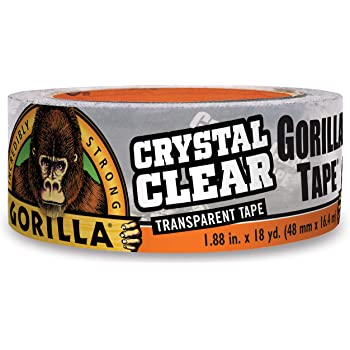 """Gorilla Crystal Clear Duct Tape, 1.88"""" x 18 yd, Clear, (Pack of 1)"""