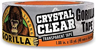 "Gorilla Crystal Clear Duct Tape, 1.88"" x 18 yd, Clear, (Pack of 1)"