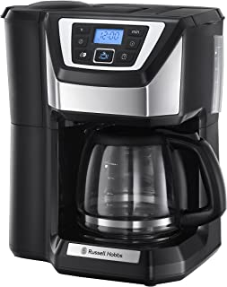 Russell Hobbs Chester Grind & Brew - Cafetera de Goteo (Jarra Cafetera, 1025 W, Negro, Molinillo) - ref. 22000-56
