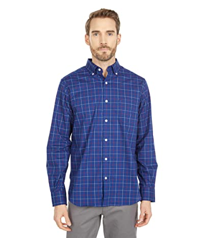 Nautica Classic-Fit Wrinkle-Resistant Plaid Shirt (Blue Depths) Men