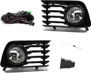 RP Remarkable Power, FL7018 Fit For 2004-09 Prius Fog Lights Clear Lens Front Bumper Lamps Kit