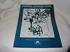 KARMA CHAMELEON FOR VOICE AND PIANO RECORDED BY CULTURE CLUB ON EPIC RECORDS