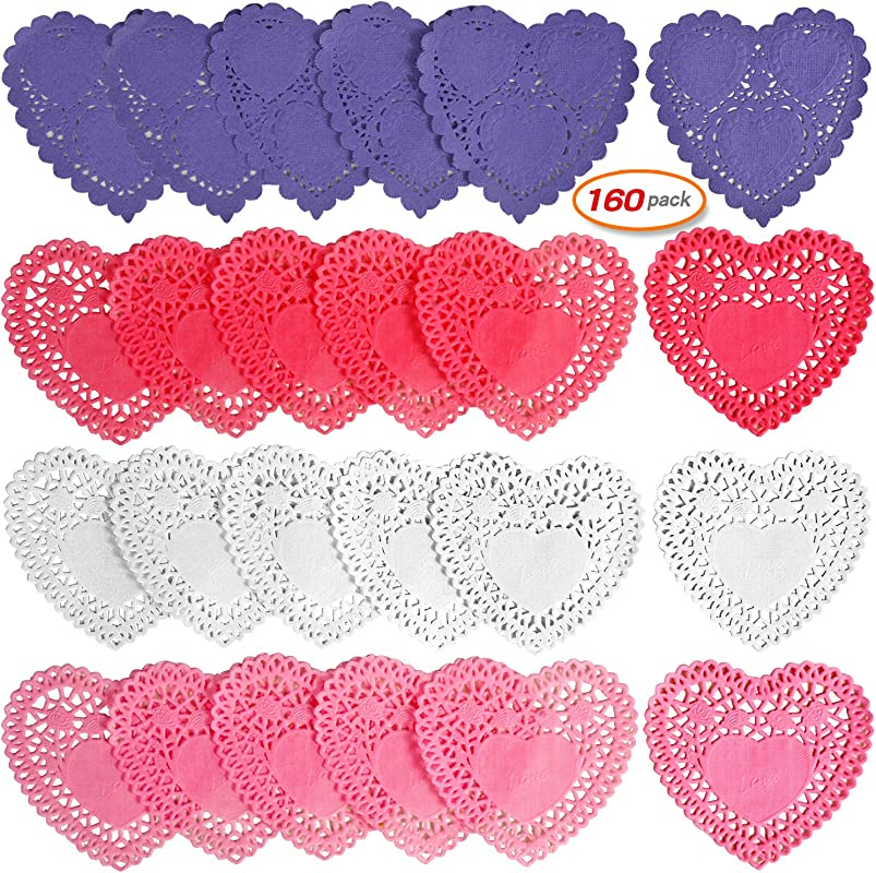 160pcs Doilies Lace Mini Paper Doilies Red Pink White Purple For Wedding Party Love Decoration Mother S Day Father S Day