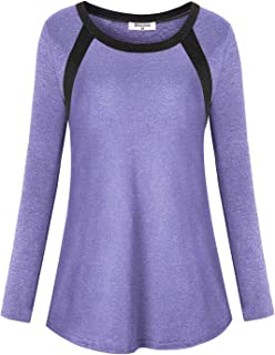 Bobolink Women's Long Sleeve Workout Tops Cool Dri Fit Yoga Running T Shirts