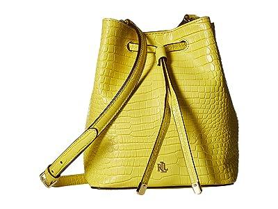 LAUREN Ralph Lauren Dryden Debby II Drawstring Bag (Lemon Sorbet) Handbags