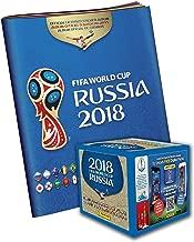 2018 Panini Russia FIFA World Cup Soccer Sticker Bundle with 50 Pack Box & Sticker Album - Fanatics Authentic Certified