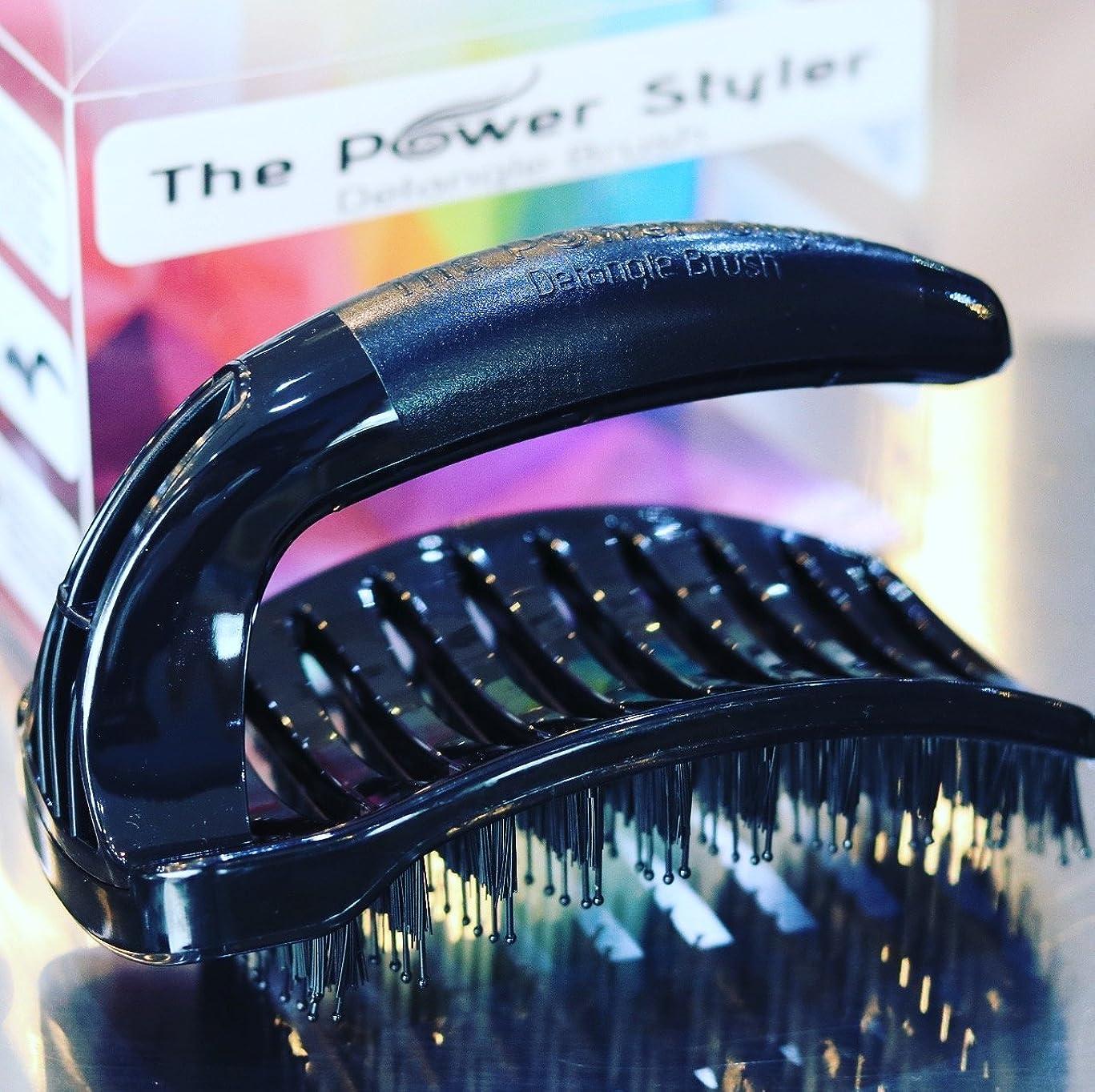 Detangle brush with unique multi positional handle for comfort. The #1 Best Detangling Hair Brush, for Wet/Dry hair, Scalp massaging hairbrush pain free detangling by The Power Styler