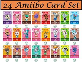 $22 » 24pcs NFC Tag Mini Cards for ACNH New Horizons Animal Villagers Switch/Switch Lite/Wii U with Crystal case