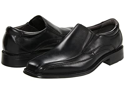 Dockers Franchise Bike Toe Loafer (Black Polished Leather) Men