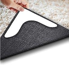 Area Rug Gripper Pads, Non Slip Anti Curling Rug Tape Washable Renewable Carpet Gripper Skid Tape for Hardwood,Black
