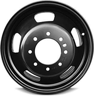 Road Ready Car Wheel For 2003-2019 Dodge Ram 3500 17 Inch 8 Lug Black Steel Rim Fits R17 Tire - Exact OEM Replacement - Full-Size Spare