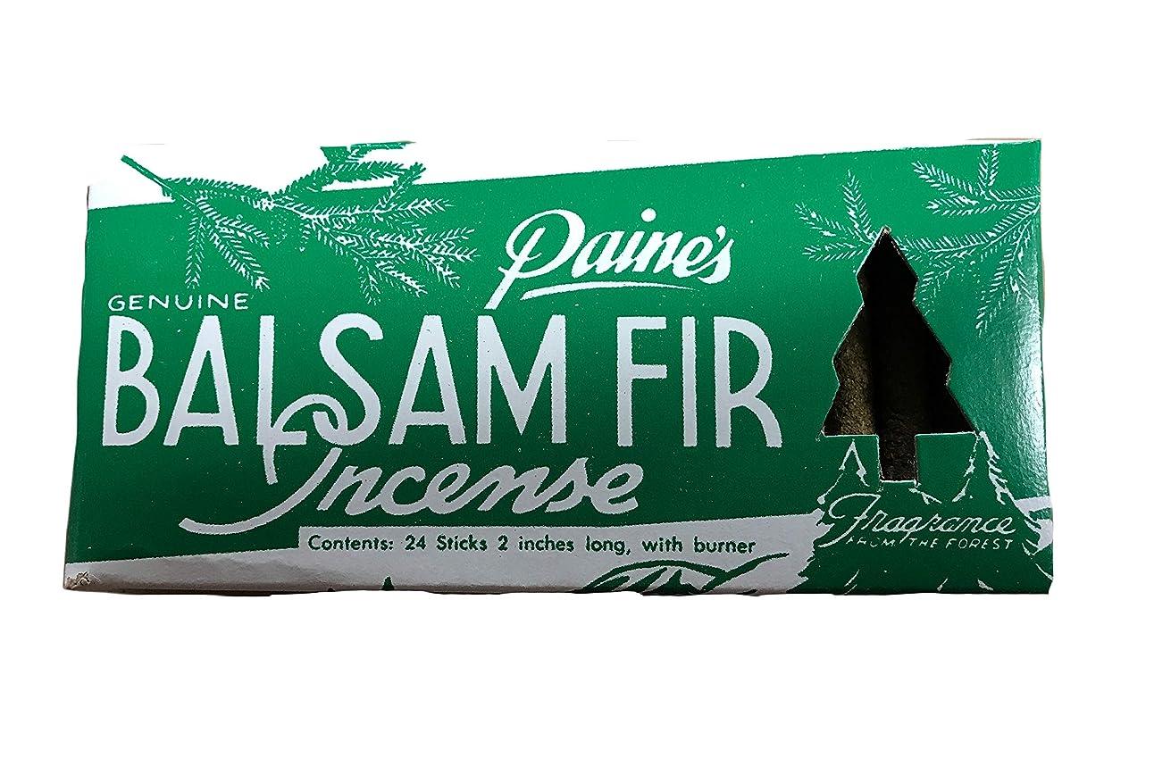 エンドテーブル地震アパルPaine's Balsam Fir お香 24個パック バーナー付き