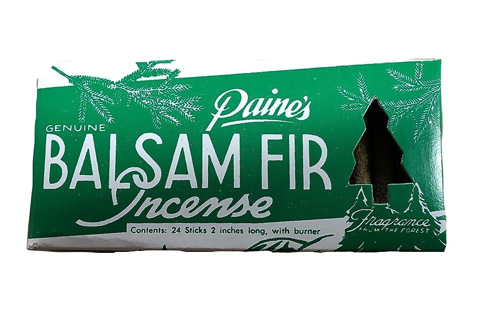 エンディング優勢適合Paine's Balsam Fir お香 24個パック バーナー付き