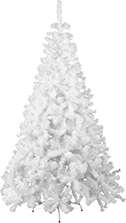 GOJOOASIS 6' Artificial Christmas Tree Premium Spruce Hinged with Metal Stand Eco-Friendly Xmas Pine Tree White