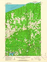 YellowMaps Brule WI topo map, 1:62500 Scale, 15 X 15 Minute, Historical, 1961, Updated 1963, 21.1 x 16 in