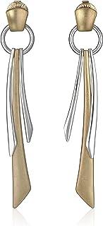 Robert Lee Morris Soho درجتين مختلفتين من أشكال هندسية Stick طولي منسدل الحلقان