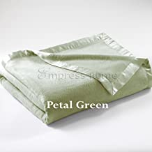 Empress Silk Plush Blanket - King - Petal Green