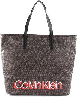 Calvin Klein Monogram Shopper Brown Monogram