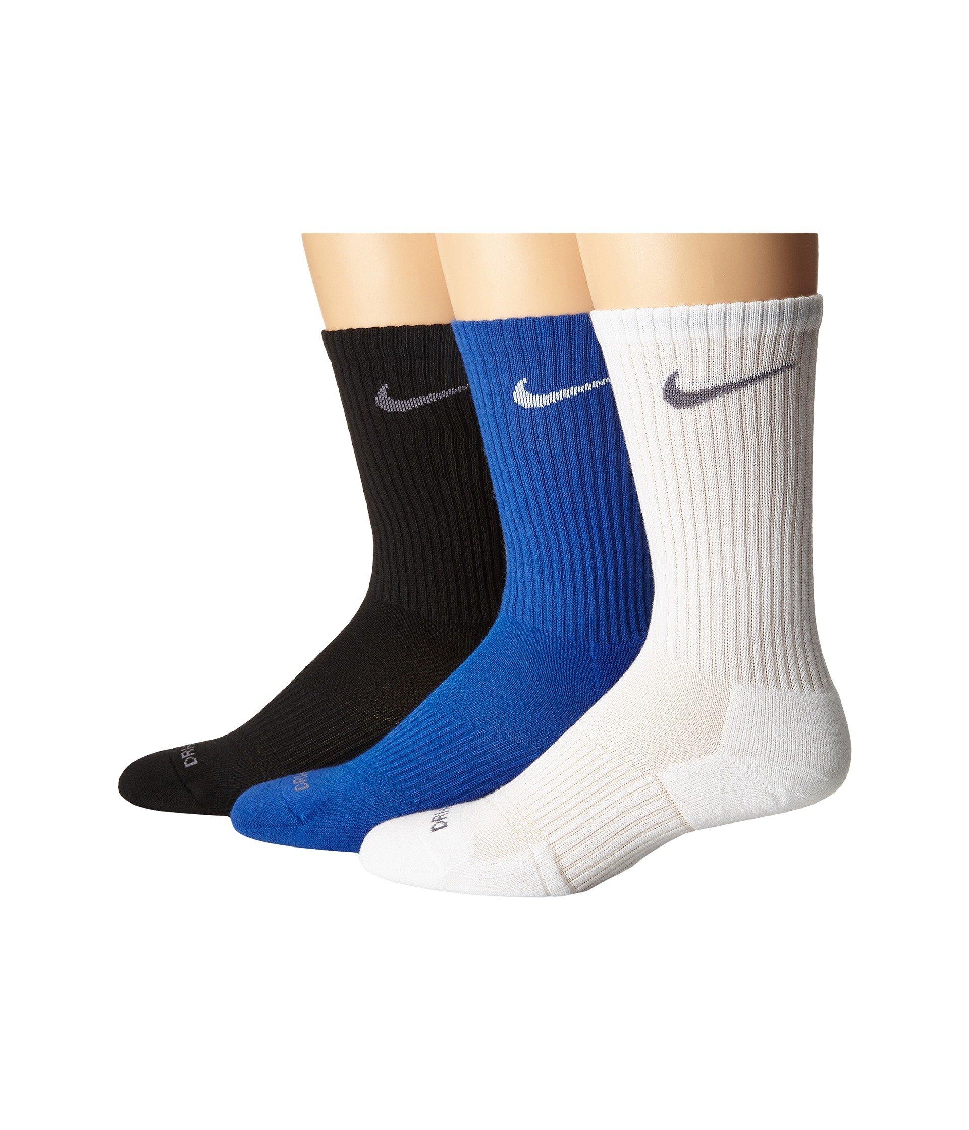 Nike Grey white Pack 3 flint flint Game Dri Crew Cushion Royal Pair Grey white fit black 7r7Uq