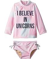 I Believe in Unicorns Rashguard Set (Infant/Toddler)