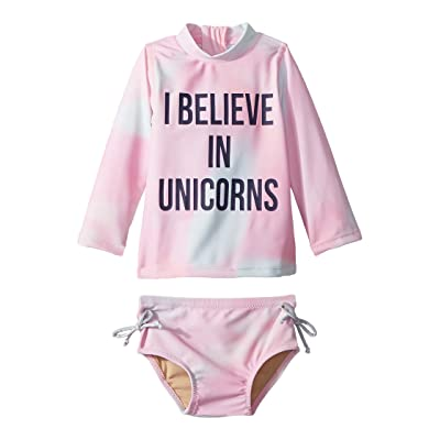 shade critters I Believe in Unicorns Rashguard Set (Infant/Toddler) (Pink) Girl