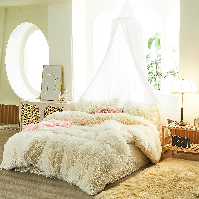 FlySheep 3 supreme Piece Luxury Plush Shaggy Ultra Set Outlet ☆ Free Shipping Duvet Cover Soft