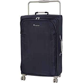 """IT Luggage 31.5"""" World's Lightest 8 Wheel Spinner, Evening Blue With Cobblestone Trim, One Size"""