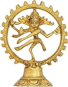 bailando Dios shiva natraj estatua - idea de regalo de estatuilla de latón artesanal - 13x 10 cm x 5 cm