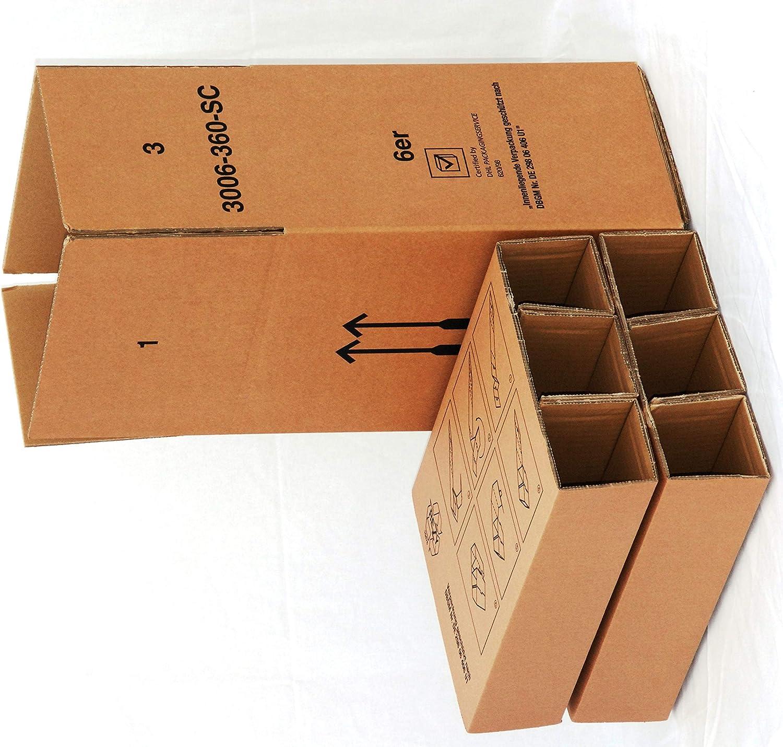 PTZ-Versandkarton   6 Flaschen 305 x 210 x 360 mm (Innenmaß)  Verpackungseinheit  10 Stück  B07NQNHDX4      Auktion