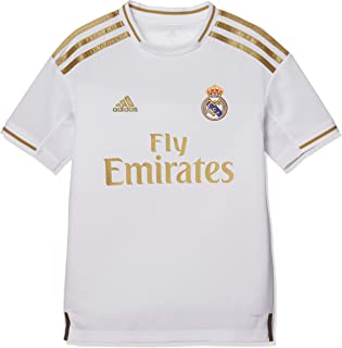 adidas 19/20 Real Madrid Home Jersey Youth Football Fan Jerseys for Boys, Size