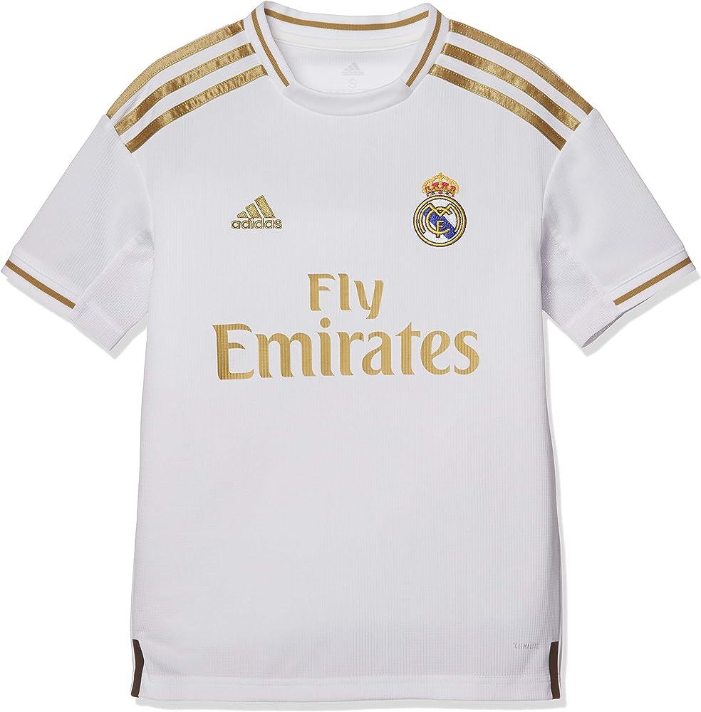 adidas Real Madrid 2019/20 Kids Home Football Shirt Jersey White/Gold