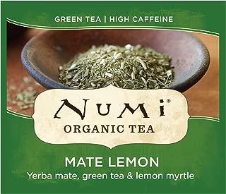 Numi Organic Tea Mate Lemon, 100 Count Box of Tea Bags, Yerba Mate Green Tea Blend (Packaging May Vary)
