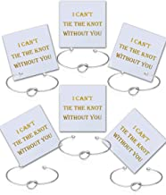 I Can't Tie The Knot Without You Bridesmaid Gift Cards Bridesmaid Bracelets Silver Tone- Set of 4,5,6