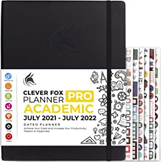 Clever Fox Academic Planner PRO July 2021-July 2022 – Dated Weekly & Monthly Organizer to Boost Productivity, Stay Focused...