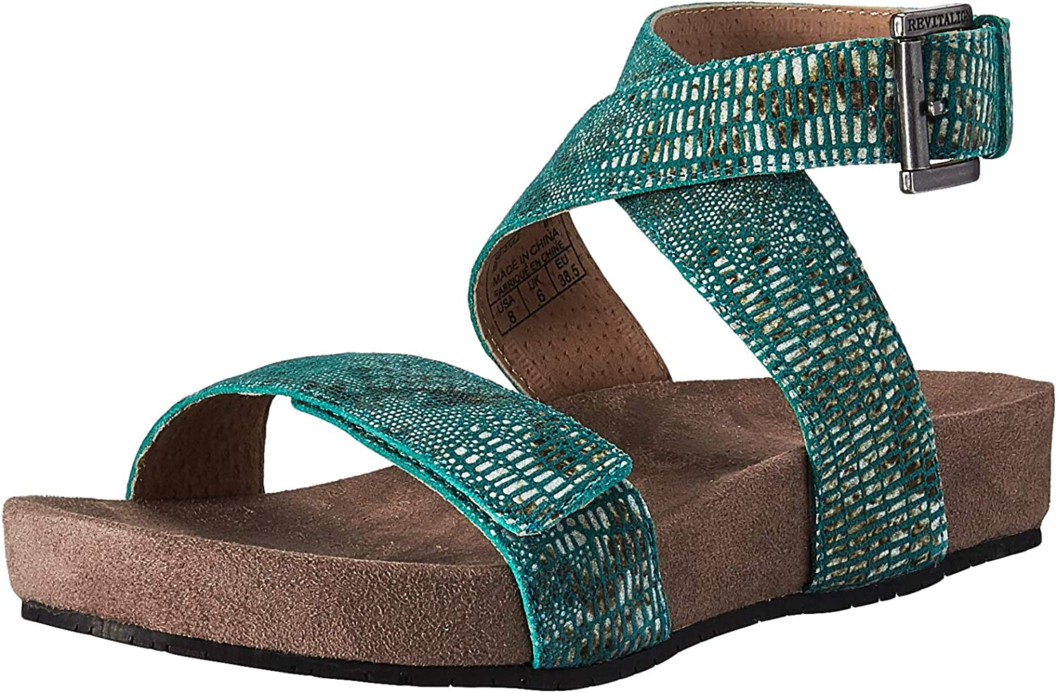 REVITALIGN Women's Swell Animer and price revision Be super welcome Suede Sandal Leather Adjustable