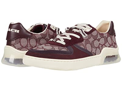 COACH CitySole Jacquard Court (Burgundy) Women