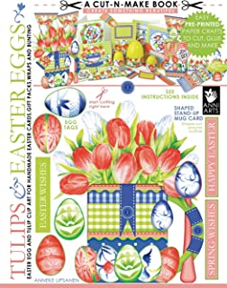 Tulips and Easter Eggs Cut-n-Make Book: Easter Egg and Tulip Clip Art For Handmade Easter Cards, Gift Packs, Wraps And Bunting (Volume 1)