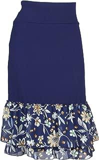 Peekaboo-Chic Magnolia Floral Print Half Slip Skirt Extender