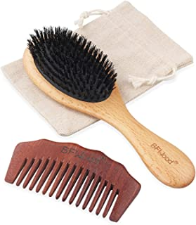 BFWood Boar Bristle Hair Brush - Pure Soft Hair Brush for Fine Thin Hair