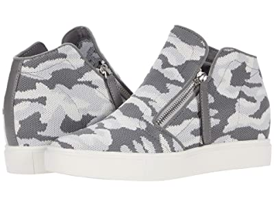 Steve Madden Click Wedge Sneaker (Grey Camo) Women