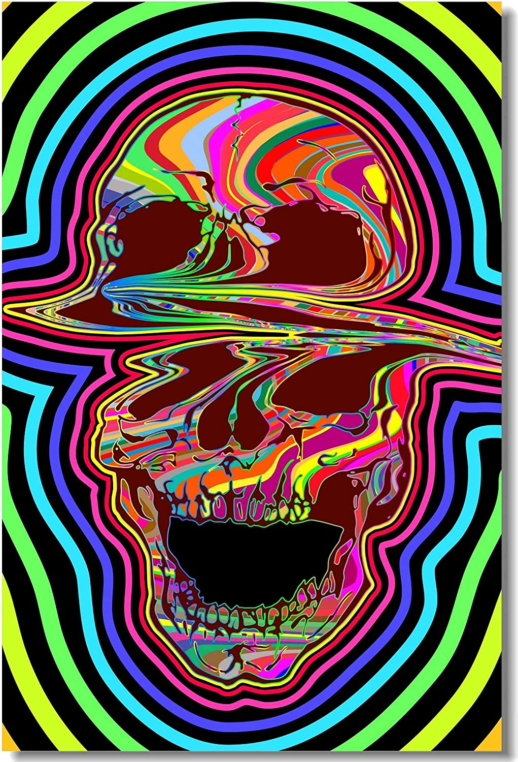 Poster Psychedelic Trippy Colorful Ttrippy Surreal Abstract Astral Art Print 37
