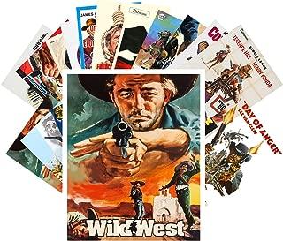 Postcard Set 24 cards Western Vintage Movie Poster Wild West Cowboys Indians Action