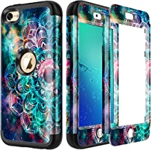 Lamcase for iPod Touch 7th Gen 2019 Case, iPod Touch 7/6/5 Case Shockproof Hybrid Rubber Dual Layer Armor Protective Case Cover for Apple iPod Touch 7th/6th/5th Generation, Mandala/Galaxy