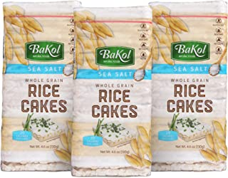 Sponsored Ad - BaKol Whole Grain Brown Rice Cakes with Sea Salt, 3 Pack, Gluten-Free Healthy Snacks for Adults and Kids, N...