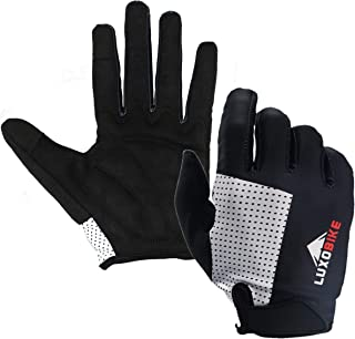 LuxoBike Cycling Gloves Bicycle Gloves Bicycling Gloves Mountain Bike Gloves - Anti Slip Shock Absorbing Pad Breathable MT...