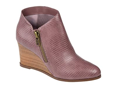 Journee Collection Comfort Foam Glam Wedge Bootie (Purple) Women