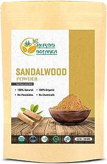 گیاهان Botanica Chandan (چوب صندل) پودر ارگانیک 100 گرم / 3.52 اونس برای پوست ، بسته صورت ، ماسک صورت ، پرستش تیلاک ، مناسبت های خوش یمن 100٪ طبیعی