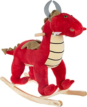 Happy Trails Rocking Ride On Plush Stuffed Dragon