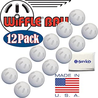 WIFFLE Ball Baseballs Official Size (12 Pack) with Bonus NOIS Tissue Pack
