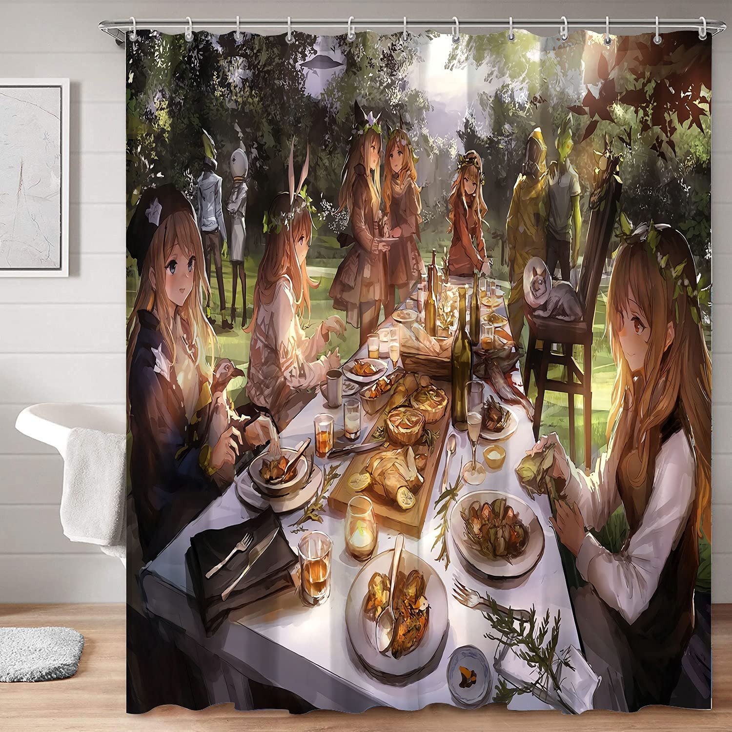 HSERNED Decor Creative Home Today's only Landscape Decorative Max 69% OFF Bathroom Anime